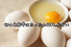 卵の自給率はたったの13%しかない
